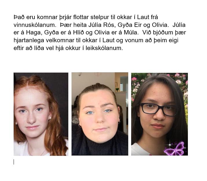 Mynd fyrir Starfsmenn frá vinnuskólanum í Laut